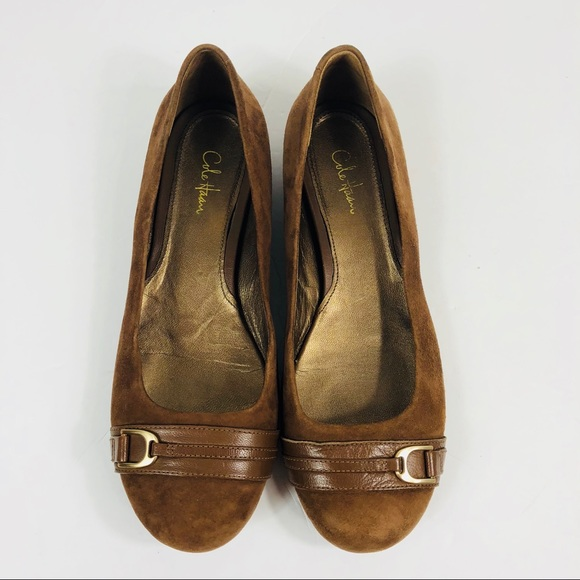 6c5482dc1bb Cole Haan Brown Ballet Driving Flat
